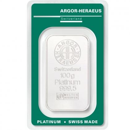 Platinbarren 100 Gramm Argor-Heraeus