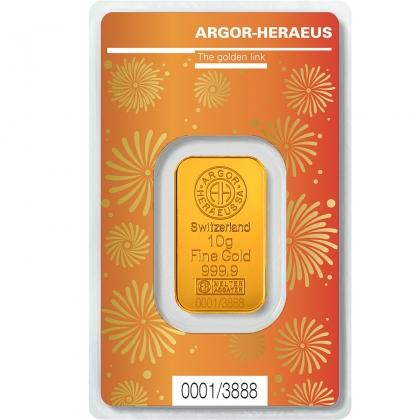 Goldbarren Argor-Heraeus 10 Gramm Ochse