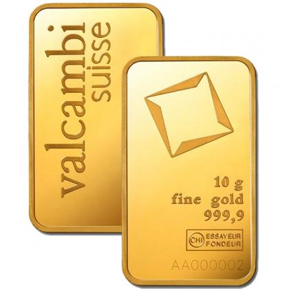 Goldbarren Valcambi 10 Gramm
