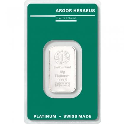 Platinum Bar 10 Gram Argor-Heraeus