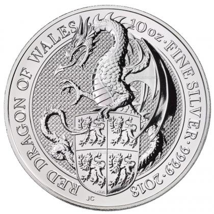 Queen's Beasts Dragon 10 oz Silver 2018