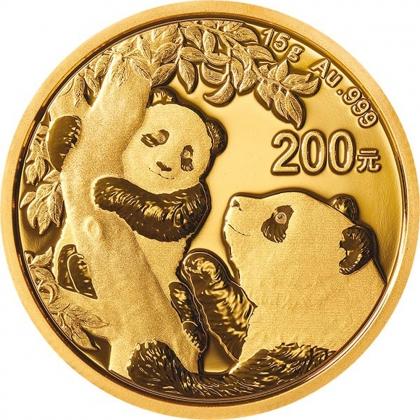 Panda 15 Gramm Gold 2021
