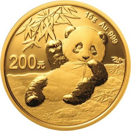 Panda 15 Gramm Gold 2020