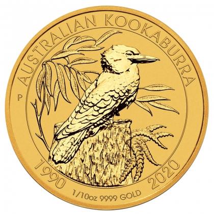 Kookaburra 1/10 oz Gold 2020