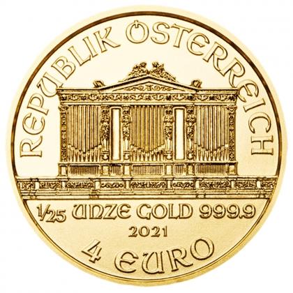 Philharmoniker 1/25 oz Gold 2021
