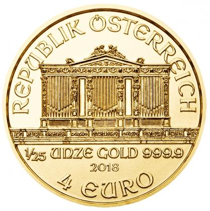 Austrian Philharmonic 1/25 oz Gold 2018
