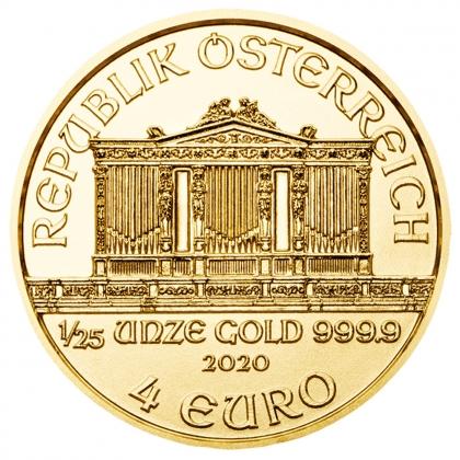 Austrian Philharmonic 1/25 oz Gold 2020