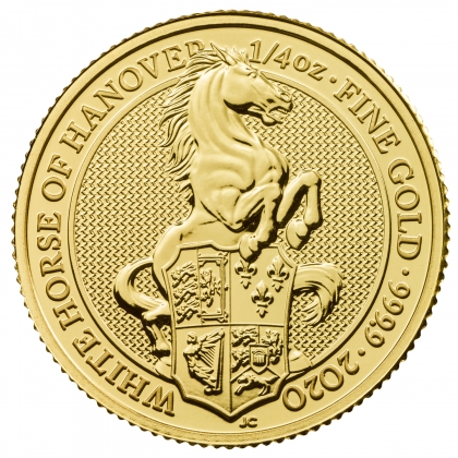 Queen's Beast White Horse 1/4 oz Gold 2020