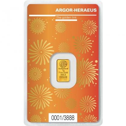Goldbarren Argor-Heraeus 1 Gramm Ochse