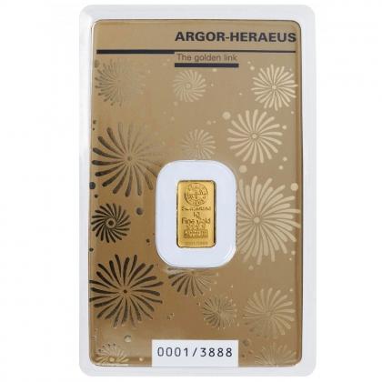 Goldbarren Argor Heraeus 1 Gramm Maus