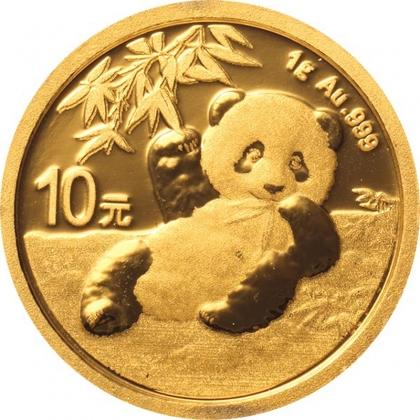 Panda 1 Gramm Gold 2020