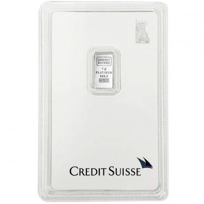 Platinbarren 1 Gramm Credit Suisse