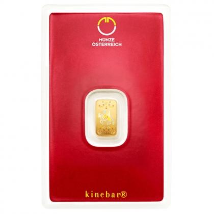 Goldbarren kinebar™ 1 Gramm Münze Österreich