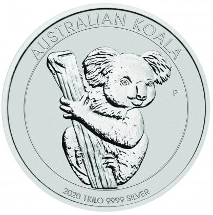 Koala 1 kg Silber 2020