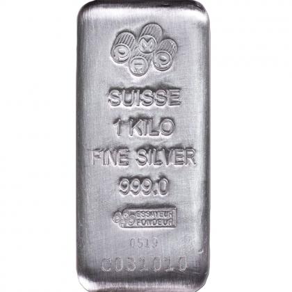 Silberbarren 1 kg PAMP Suisse