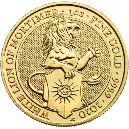 Queen's Beasts White Lion 1 oz Gold 2020