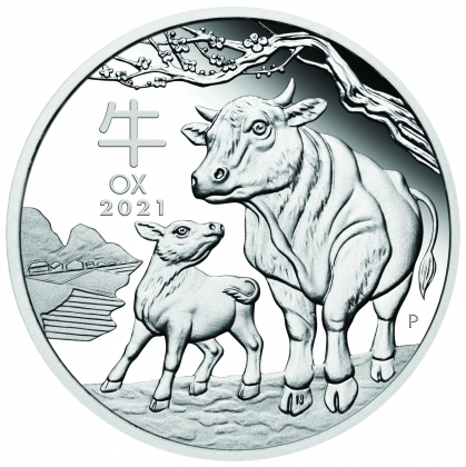 Lunar Ox 1 oz Silver 2021 Proof