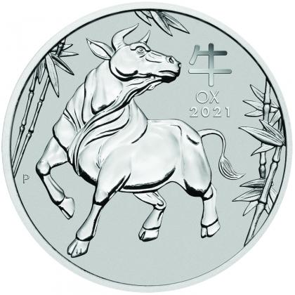 Lunar Ox 1 oz Platinum 2021