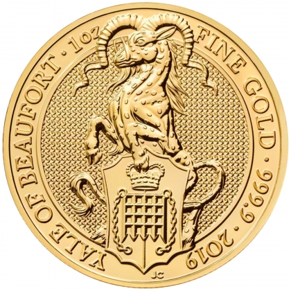 Queen's Beasts Yale 1 oz Gold 2019