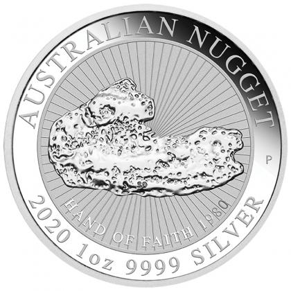 Australian Nugget 1 oz Silber Hand of Faith