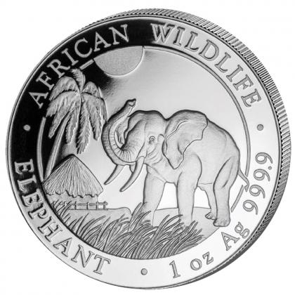 Somalia Elefant 1 oz Silber 2017