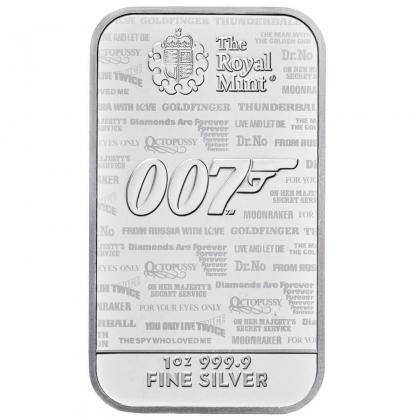Silberbarren James Bond 1 oz