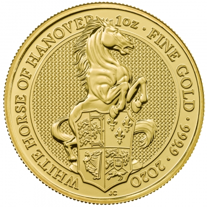 Queen's Beasts White Horse 1 oz Gold 2020