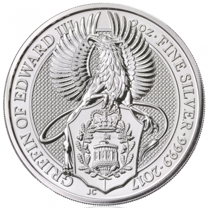 Queen's Beasts Griffin 2 oz Silber 2017