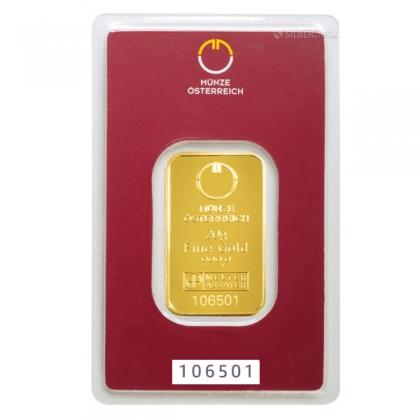 Goldbarren 20 Gramm Münze Österreich