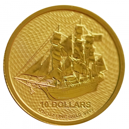 "Cook Islands ""Bounty"" 1/10 oz Gold 2020"