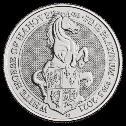 Queen's Beasts White Horse 1 oz Platinum 2021