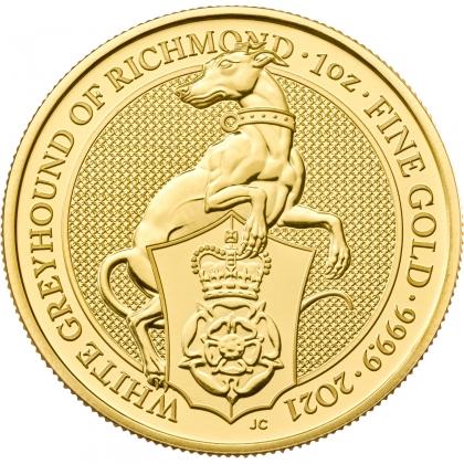 Queen's Beasts White Greyhound 1 oz Gold 2021