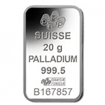 Palladiumbarren 20 Gramm PAMP Suisse