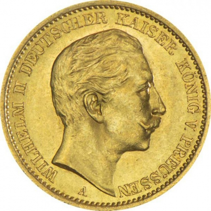 German Empire 20 Mark Gold