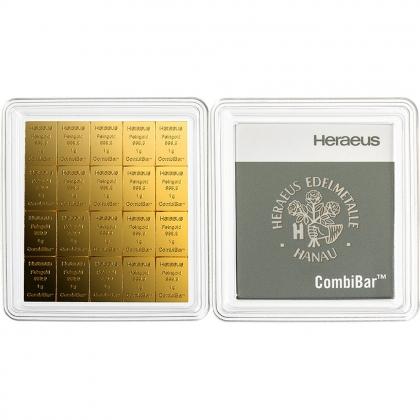 20 x 1 g Gold CombiBar Heraeus