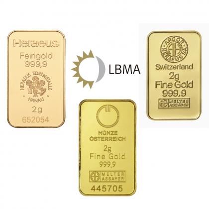 Goldbarren 2 Gramm LBMA zertifiziert