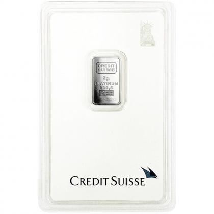 Platinbarren 2 Gramm Credit Suisse