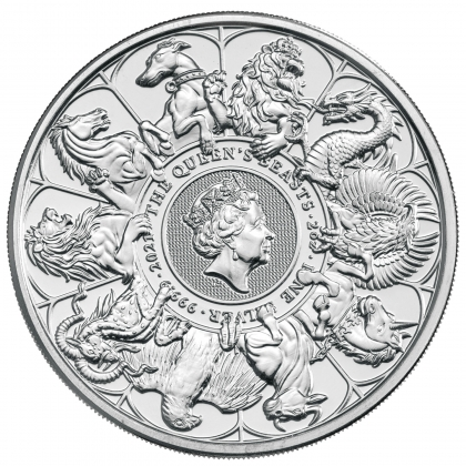 Queen's Beasts Completer Coin 2 oz Silber 2021