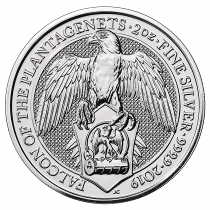 Queen's Beasts Falcon 2 oz Silver 2019