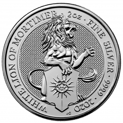 Queen's Beasts White Lion 2 oz Silber 2020