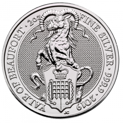 Queen's Beasts Yale 2 oz Silber 2019