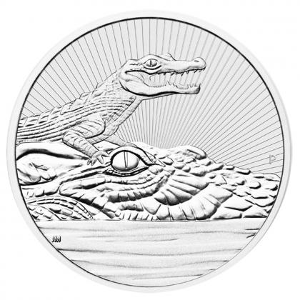 Crocodile 2 oz Silber 2019