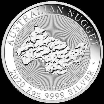 Australian Nugget 2 oz Silber 2020
