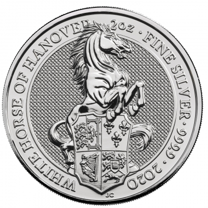 Queen's Beasts White Horse 2 oz Silber 2020