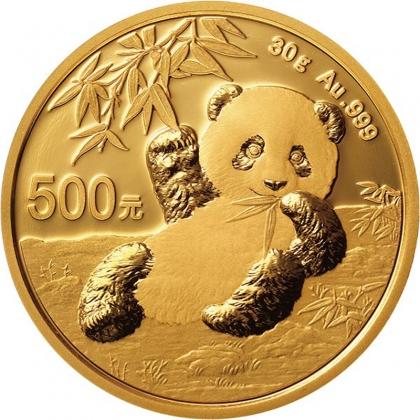 Panda 30 Gramm Gold 2020