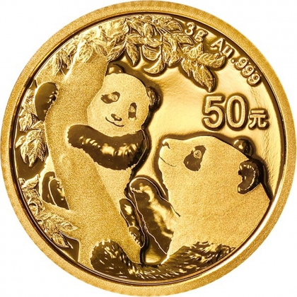 Panda 3 Gramm Gold 2021
