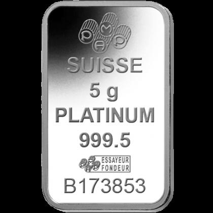 Platinbarren 5 Gramm PAMP Suisse