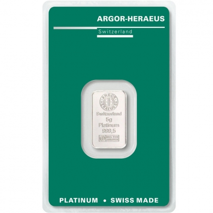 Platinbarren 5 Gramm Argor-Heraeus