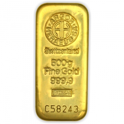 Goldbarren Argor-Heraeus 500 Gramm