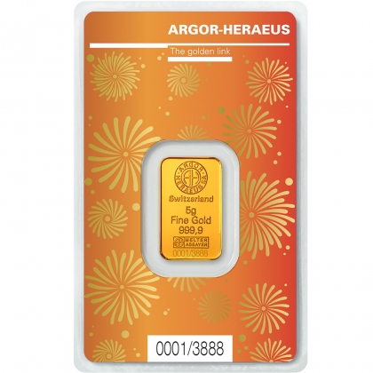 Gold Bar 5 Gram Argor-Heraeus Ox
